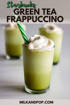 Sweets Recipes, Tea Recipes, Smoothie Recipes, Drink Recipes, Healthy Recipes, Desserts, Healthy Breakfast Smoothies, Best Breakfast Recipes, Matcha Green Tea Frappuccino Recipe