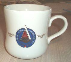 Mug America's Cup Challenge 1987 Tasters Choice Sail America Vintage #unknown
