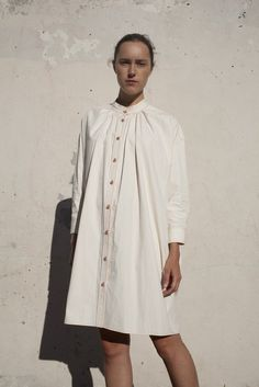 Caron Callahan Maria Shirt Dress in Vintage Poplin | Oroboro Store | Brooklyn, New York