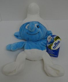 """#BuildABear Clumsy #Smurf Plush Blue & White Stitched Eyes UnStuffed 17"""" NEW AllOccasion"""