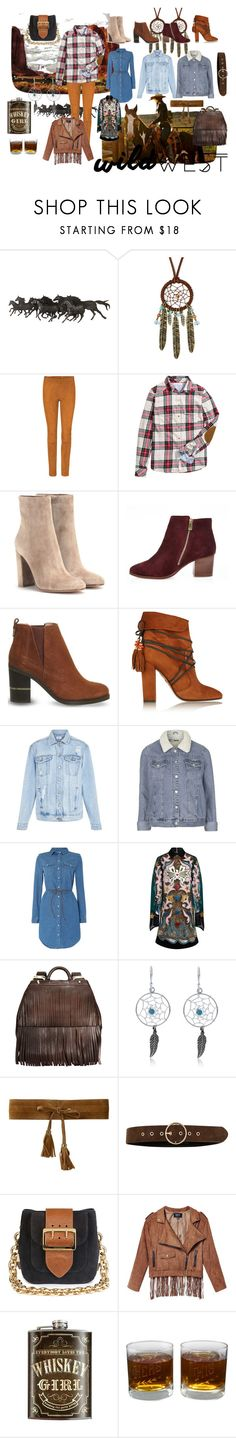 """Welcome to the Wild Wild West"" by nina2809-x ❤ liked on Polyvore featuring Decree, STOULS, H&M, Gianvito Rossi, River Island, Office, Aquazzura, Topshop, Levi's and Mary Katrantzou"