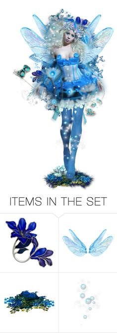 """""""Blue Faery """" Summer Faery Masquerade Ball """""""" by girlinthebigbox ❤ liked on Polyvore featuring art, fantasy, fairy, magic and masqerade"""