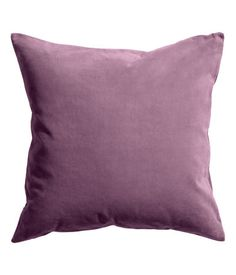 Light pink. Cushion cover in cotton velvet. Concealed zip at lower edge.