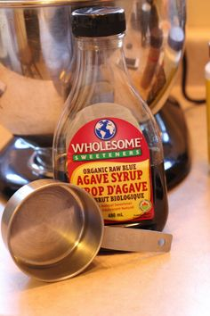 Agave for my sugar free healthy breakfast muffins