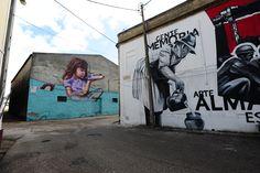 Obras de Smile e Robot - Mostra Graffiti de Almada em Caramujo-Romeira