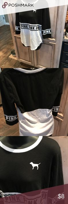 Pink blk and white size S Perfect used condition, soft and ready for fall PINK Tops Tees - Short Sleeve