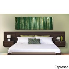 This striking king-sized floating headboard from the Vahalla Designer Series is sure to become the centerpiece of your bedroom. This multi-functional piece integrates a headboard, two nightstands, and plenty of storage for superior form and function.