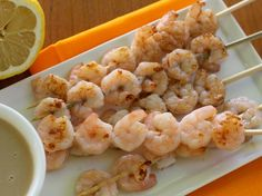 Shrimp Kabobs in Tamarind Sauce - QueRicaVida.com