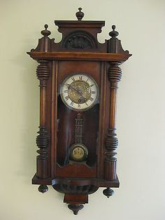 "German ""Vienna Regulator""Wall Striking clock-by R.S.Mueller-Ting-Tang Striking •…"