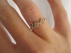 "Sydney Evan's ""Love ring"". Want."