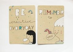Postcards from Pinkrainshop on Etsy