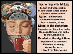 Young Living oils for Jet Lag