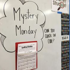 My kiddos loved figuring out their weekly words with these fun riddles! My best #miss5thswhiteboard impression. Also love my @lakeshorelearning magnetic pockets! #mrlsclassroom #teacherspayteachers #teachersfollowteachers #teachersofinstagram #teacher #iteachtoo #iteachfirst #firstgrade