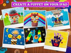 FREE app May 17th ( reg 2.99) Puppet Workshop was created to develop your child's creativity. Choose a sock or glove which will become a virtual puppet.