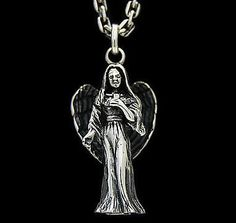 ANGEL MARIA 925 STERLING SILVER RELIGIOUS PENDANT