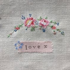 ribbon embroidery ideas Oh it is just pure sweetness. I want to whip some up. I have not done fine needle work in awhile. This is inspiring me. Silk Ribbon Embroidery, Cross Stitch Embroidery, Hand Embroidery, Embroidery Designs, Fabric Journals, Textiles, Textile Art, Needlework, Sewing Projects