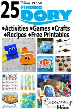 Finding Dory Activities, Games, Crafts, Recipes and Free Printables for Kids, perfect for Finding Dory Birthday Party Ideas