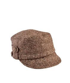 Women's Speckled Tweed Cap