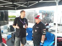Paul James and Veterans Empowered Through Motorsports crew member Brittany HustleHarder Perez at Barber Motorsports Park before AMA Pro Road Racing practice.