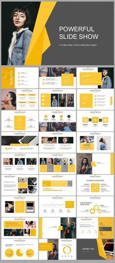Yellow Business Analyze Presentation Powerpoint – Original and high quality PowerPoint Templates dow Ppt Design, Design Sites, Design Brochure, Layout Design, Design Poster, Slide Design, Banner Design, Chart Design, Booklet Design