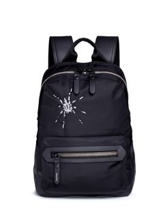LANVIN Spider Embroidery Nylon Backpack. #lanvin #bags #leather #lining #canvas #nylon #backpacks #