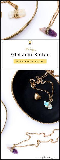 Schmuck selber machen: DIY Edelsteinketten   DIY Fashion & Geschenkidee zum Muttertag, Geburtstag, Valentinstag etc.   Filizity.com   DIY-Blog aus dem Rheinland #schmuck #geschenkidee