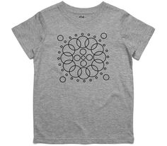 El Cheapo Concentric Circle (Black) Youth Grey Marle T-Shirt