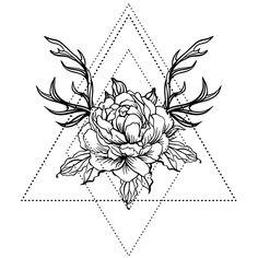 Sacred Geometry Temporary Tattoo #624