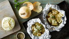 Ingredients and step-by-step recipe for Grilled Vidalia Onions. Find more gourmet recipes and meal ideas at The Fresh Market today! Grilling Recipes, Veggie Recipes, Gourmet Recipes, Appetizer Recipes, New Recipes, Favorite Recipes, Healthy Recipes, Grilling Ideas, Delicious Recipes