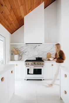Indian Home Decor Sarah Sherman Samuel: Our Kitchen Tour Before & After Ikea Kitchen, Kitchen Flooring, Kitchen Interior, Kitchen Decor, Kitchen Ideas, Modern Ovens, Oven Hood, Kitchen Planner, Kitchen And Bath Design