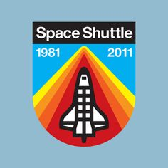 Space Shuttle anniversary badge, conceived by Draplin Design.