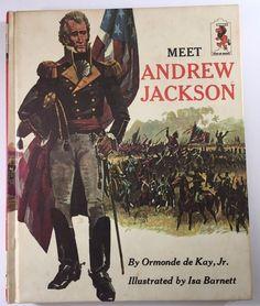 VTG Step-up Book USA History Meet Andrew Jackson Ormonde Jr deKay 1967 Hardcover