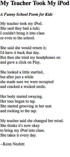 Kenn Nesbitt's website is full of hilarious poems that the kids ...