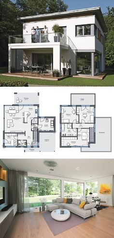 Modern House Plan City Life 700 - Dream Home Open Floor WeberHaus - Architecture Design Home Ideas HausbauDirekt.de - #home #house #houseplan #dreamhome #newhome #homedesign #houseideas #housegoals #construction #architecture #architect #arquitectura