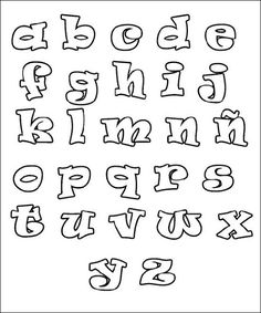 Coloring Pages Of The Alphabet For Kids Printable Hand Lettering Fonts, Doodle Lettering, Creative Lettering, Graffiti Lettering, Lettering Design, Alphabet A, Alphabet Templates, Alphabet For Kids, Graffiti Alphabet