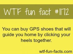 GPS SHOES MORE OF WTF-FUN-FACTS are coming HERE funny and weird factsONLY