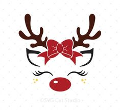 Rentier mit Elf Hut Svg-Dateien – Reindeer with elf hat svg files – Christmas Vinyl, Christmas Unicorn, Christmas Rock, Christmas Projects, Holiday Crafts, Merry Christmas, Christmas Design, Christmas Quotes, Christmas Tree Stencil