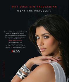 Kim Kardashian wears The Bracelet . . . Until There's A Cure  www.until.org