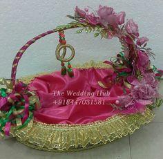 floral pink basket