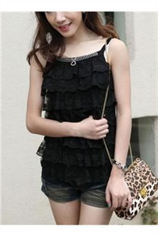 Comfortable Lace Knit Top Tank