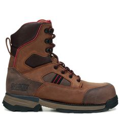 """Rocky Men's Mobilwelt 8"""" Medium/Wide Composite Toe Work Boots (Brown Leather) - 9.5 M"""