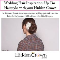 We love #Wedding Season! We love how this is the day for a #bride to LOOK and FEEL beautiful!  Read our #blogpost for #WeddingHair inspiration! Find it here: http://www.hiddencrownhair.com/wedding-up-do-tutorial-with-your-hidden-crown?utm_content=bufferfe436&utm_medium=social&utm_source=pinterest.com&utm_campaign=buffer? ✨