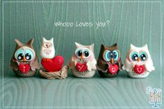 Sugar High, Inc. Polymer Clay Animals, Fimo Clay, Polymer Clay Charms, Polymer Clay Creations, Polymer Clay Art, Clay Projects, Clay Crafts, Biscuit, Owl Cakes