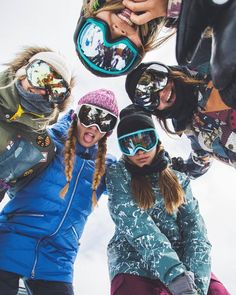 "peaksnowboarding: "" My guess is these ladies could out shred a couple of us 😉 👈🏂: Kimmy Fasani 👇🏂: 👇🏂: Tavia Bonetti 👉🏂: Hailey 👆🏂: Chloe Kim 📷🏂: ."