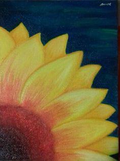 My painting!  Sempre em frente ...como um GirasSol ,que reclina para a luz deixando a sombra para trás!   Busque a luz ,seja a luz !☆