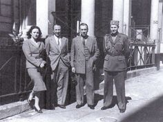 Dusko Popov in London with his colleagues from the Yugoslav royal government in exile