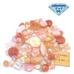 Pink Czech Glass  Assorted Bead Mix, Set of 118pc, 1065-14