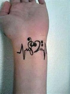 Music note tattoos wrist