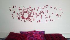 Decorarea casei cu fluturi handmade