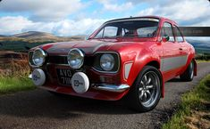Escort Bright Red in the Carrick Forest Escort Mk1, Ford Escort, Garage Workshop Plans, Ford Rs, Mk 1, British Sports Cars, Ford Classic Cars, Rally Car, Retro Cars
